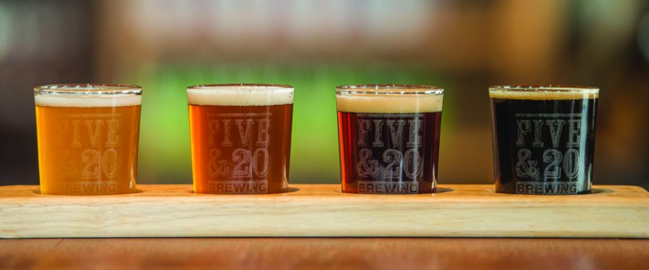 Try a Five & 20 Beer Tasting Flight